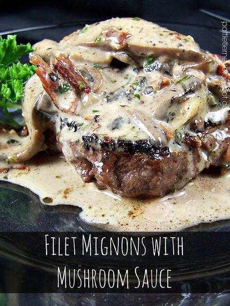 Filet Mignon with Portobello Mushroom Sauce