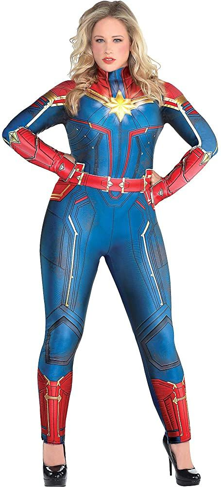 Pin On Marvel Costumes Captain marvel cosplay outfit avengers 4 endgame costume red suit with bootstop rated seller. pinterest