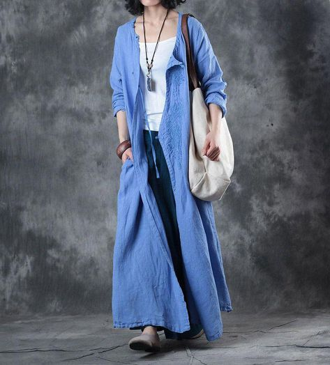 Vintage Embroidered Cardigan    #blue #cardigan #embroidery #vintage #retro #over50 #over40 #plussize #designer #bohofashionover40cardigans
