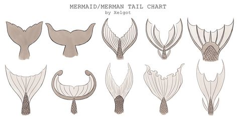 Mermaid/Merman Tail chart by Xelgot