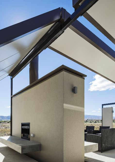 Alexandra tent house new zealand irving smith jack architects also with freezer fly roof campy concrete interiors rh pinterest