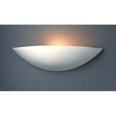 Bisque Finish Justice Design Group Ambiance Collection 1-Light Wall Sconce
