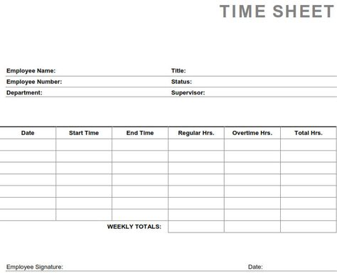employee attendance record sheet at http\/\/wwwwordexceltemplates - printable time sheet