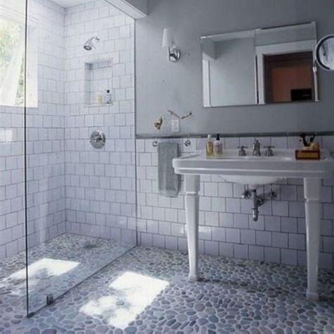Bathroom Subway Tile Walls Old Style