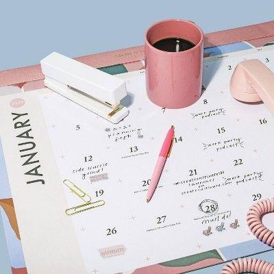 2020 Large Desk Calendar White Create Cultivate Large Desk Calendar Desk Calendars Large Desk