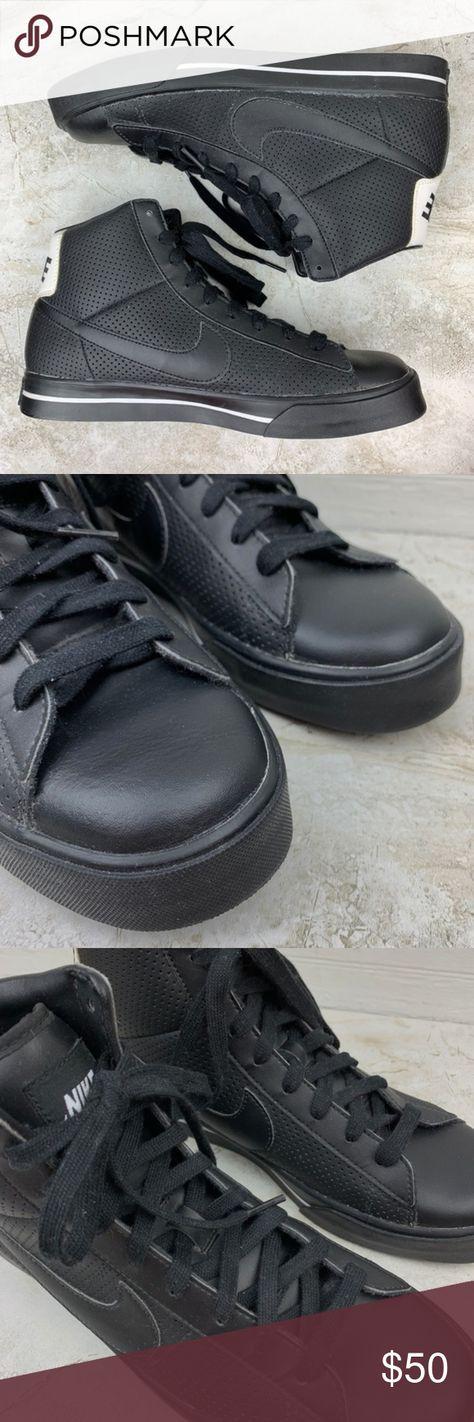 Nike — Men s Black Sweet Classic High Top Sneaker PRE-OWNED Nike Sweet  Classic High 4430d51e8