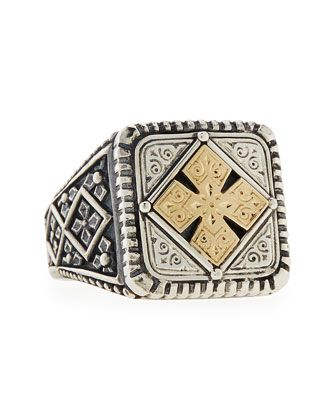 GRIFFIN WARRIOR SIGNET RING ENGRAVED SOLID STERLING SILVER 925 BY JOLLER