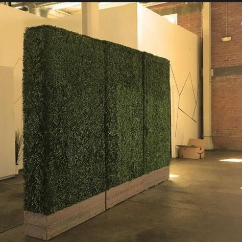 Stylish & Modern, Faux Boxwood Hedges make graceful partitions for events and weddings.