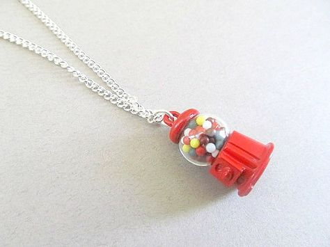 Buble Gum Ball Candy Shop Necklace by IrisJane on Etsy