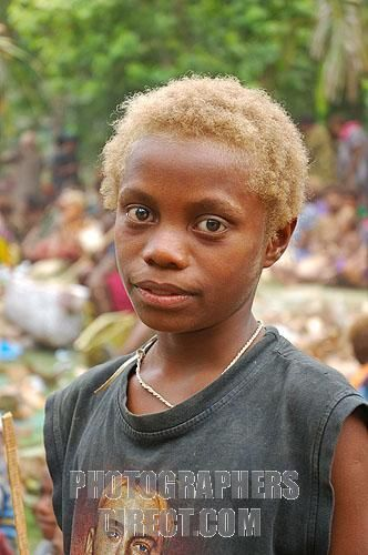 Melanesian Blonde Stock Photography Image Of Blonde Tolai Boy