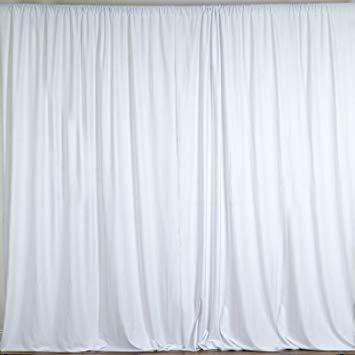 Amazon Com Balsacircle 10 Feet X 10 Feet White Polyester Backdrop Drapes Curtains Panels Wedding Ceremony Party H Panel Curtains Curtain Backdrops Curtains