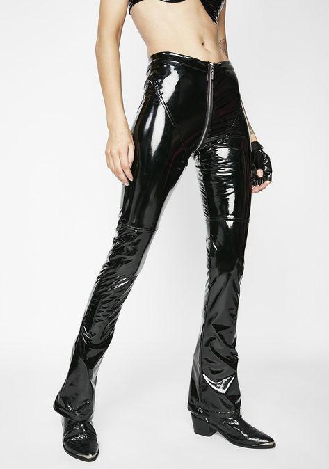 sexy Matte Dark Siren PVC Pants cuz...