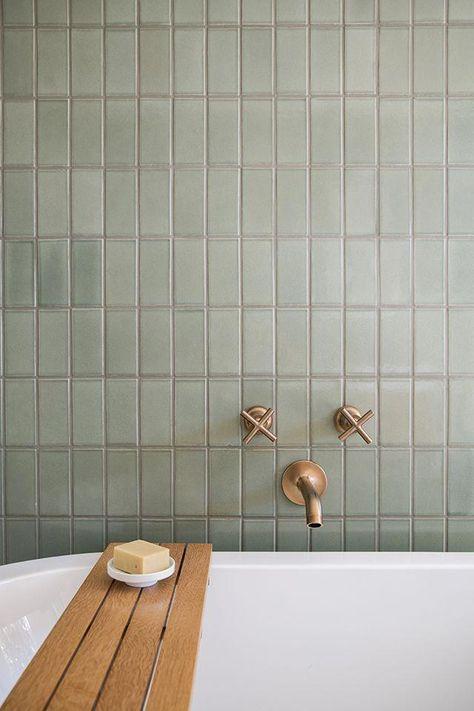 Bathroom Reno Ideas + Bathroom Tile + Brass Hardware + Bathroom Design by Sarah Sherman Samuel:Mandy Moore Jack  Jill Bathroom Tour #bathroom #renovation #design #bathroomdesigns