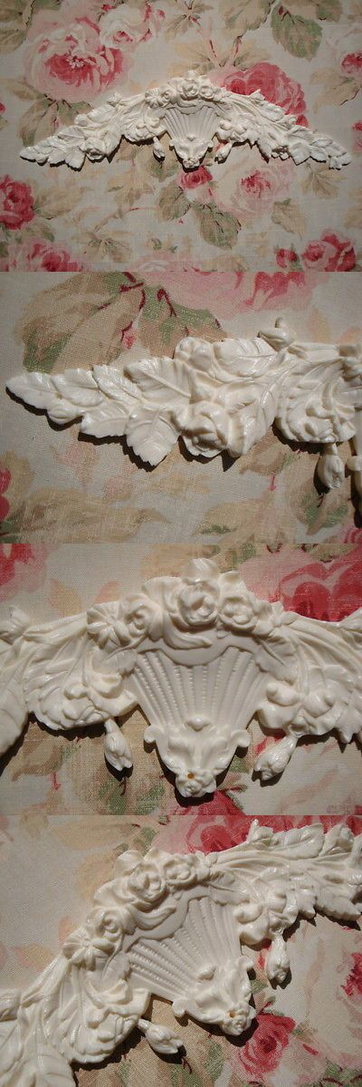 Shabby and Chic Roses /& Leaves Center Large Furniture Appliques Architectural Pediment