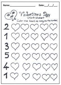 Valentine S Day Worksheet For Preschool And Kindergarten