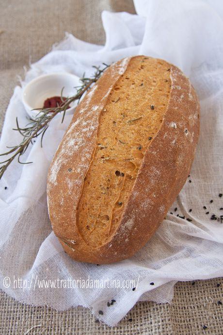 Pane al pomodoro con rosmarino e semi di nigella per il World Bread Day 2012