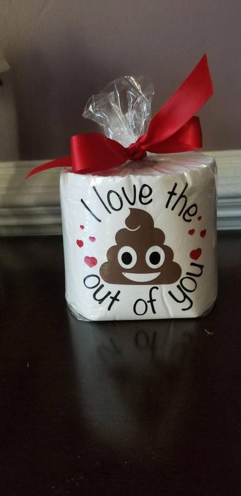Valentine's Toilet Paper, Funny Valentine's Gift, I love the poop put of you, poop valentines, gag valentines gift, fathers day gift