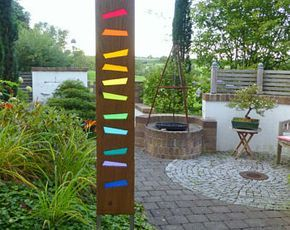 Garden Sculpture Of Wood And Glas Diy Glas Wunderschon