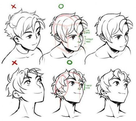 36 Ideas For How To Draw Anime Head 3 4 In 2020 Art Reference Poses Art Reference Art Sketches