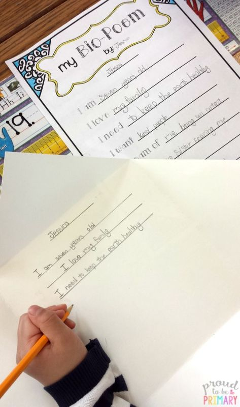 poetry writing for kids bio poems that kids love with