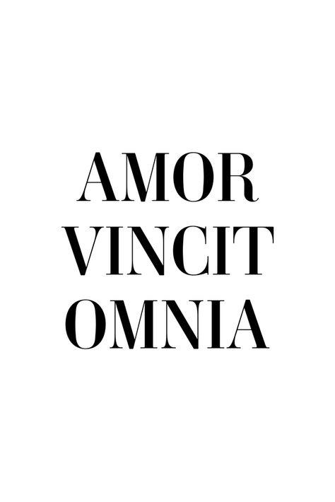 Amor vincit omnia - Love conquers all Art Print by Standard Prints - X-Small