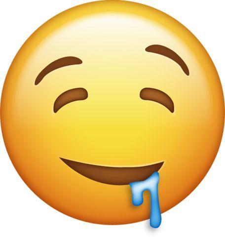 Drooling Emoji Download Drooling Emoji Emojis Iphone Menggambar Emoji Emoji Stiker