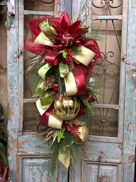 Christmas Swag Christmas Wreath | Etsy