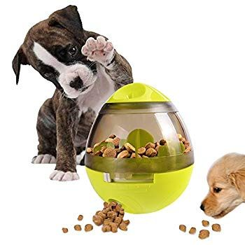 Aiboondee Treat Ball Dog Toy For Pet Increases Iq Interactive Food Dispensing Ball Thank You For Viewi In 2020 Food Animals Interactive Dog Toys Pet Food Dispenser