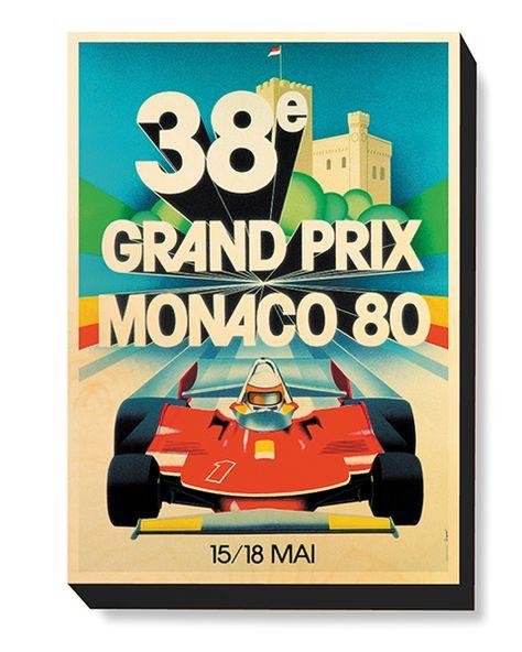 1980 Monaco Grand Prix Motor Racing Poster  A3 Print