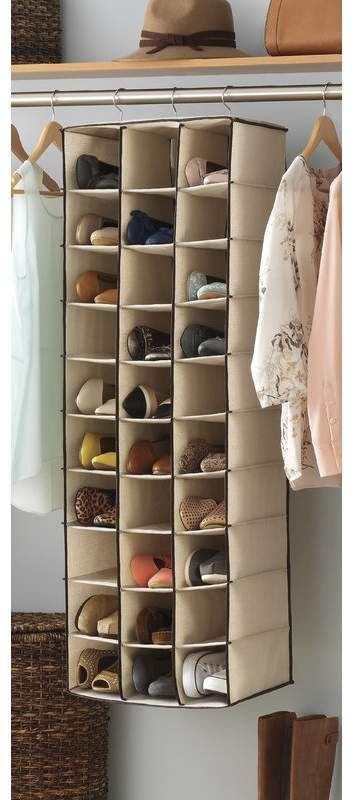 Rebrilliant 30 Pair Hanging Shoe Organizer Shoe Organization Closet Hanging Shoe Rack Hanging Shoe Organizer