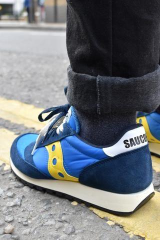 saucony jazz original blue yellow - 53