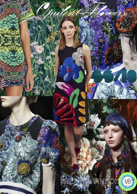Opulent Flowers SS/19 - Mirella Bruno Print Pattern and Trend Designs. trends, Fashion, Interior, Color, Design, Kids, Pattern, Print, Summer, 2020, moodboard, ideas, ss19, 2019, spring, autumn, Winter, 2018, Insight, Floral, Accessories, Fashion Show, Beauty, board, Layout, Inspiration, Ss18, Mood Boards, Spring Summer, Color Patterns, Colour Palettes, Style #colorpatterns #colourpalettes #print #pattern #trends #2019 #2018 #design #moodboards #FashionTrends2019