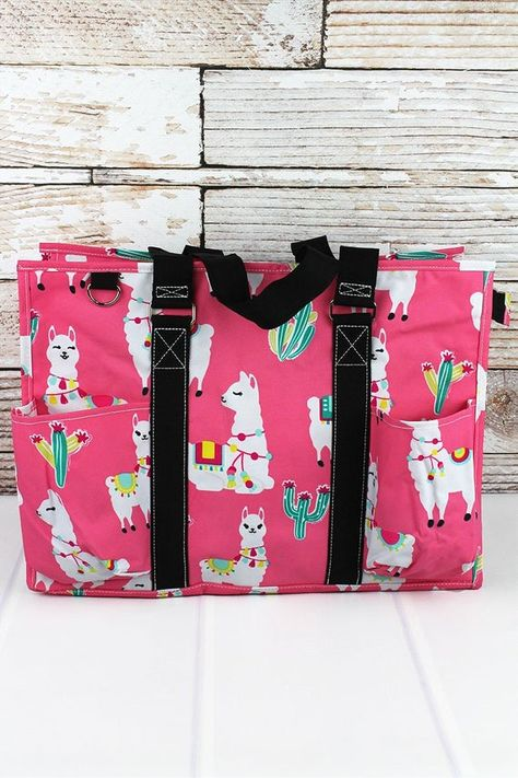 Llovely Llamas Monogrammed Diaper Bag
