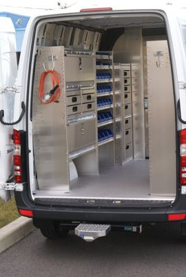 Interior Storage And Organization Ford Transit Van Shelving Van Storage
