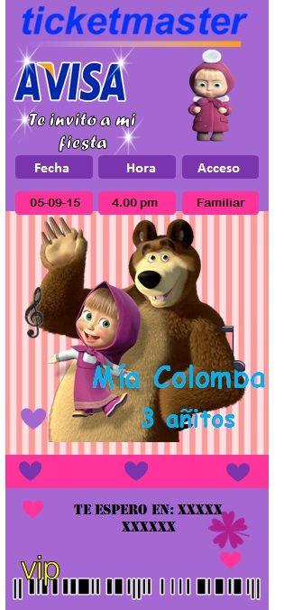 Kit Imprimibles De Cumpleaños Masha Y El Oso Masha Y El