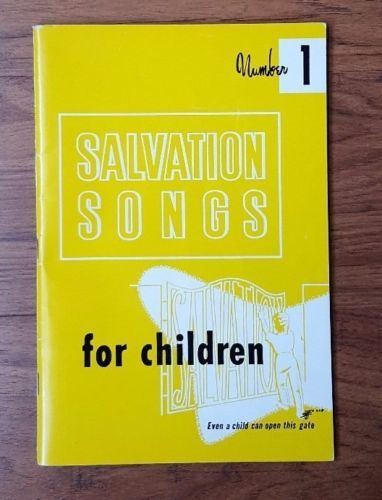 1966-Music-Song-Book-for-Children-Salvation-Songs-Number-One