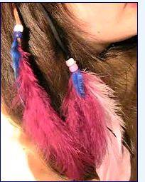 Rose feather hair clip  roach clip