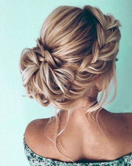 20 Trendy Wedding Hairstyles Updo Medium Length Braids Messy Buns Hair Styles Medium Length Hair Styles Wedding Hair Inspiration