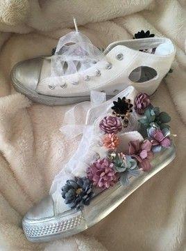 Trampki Biale Srebrne Dodatki Kwiaty Hit Wiosna 38 7201064937 Oficjalne Archiwum Allegro Wedding Sneaker Wedding Shoe Shoes