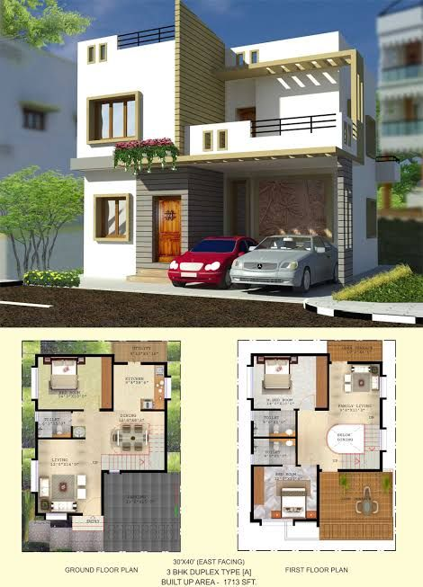 East Facing House Plans For 30x40 Site Google Search 30x40 House Plans Duplex House Plans Luxury House Plans