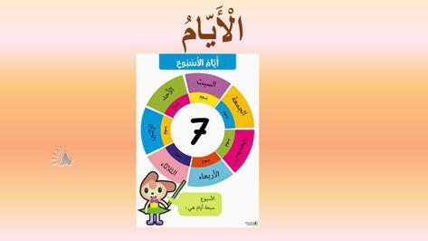 بوربوينت درس ايام الاسبوع لغير الناطقين بها للصف الاول مادة اللغة العربية Pie Chart Chart