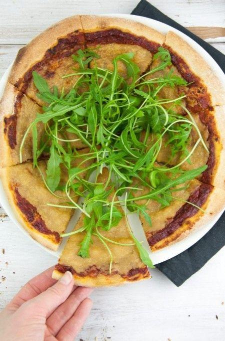 Vegan Cheese Pizza In 2020 Vegan Cheese Pizza Recipe Vegan Pizza Cheese Cheese Pizza Recipe