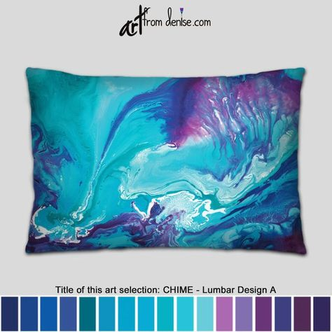 Remarkable Blue Purple Teal Lumbar Pillow Abstract Decorative Throw Dailytribune Chair Design For Home Dailytribuneorg