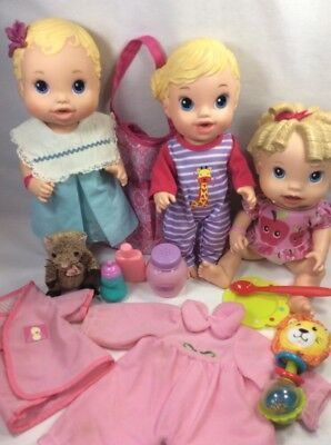 Lot Of Baby Alive Lot Bitsy Teacup All Gone Diaper Bag Clothes Toys Accessories
