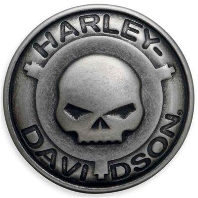 Harley-Davidson Mens Skull Handlebars /& Flames Willie G Skull Belt Buckle