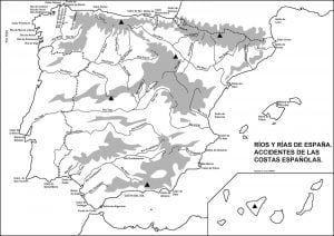 Mapas Físicos Y Políticos De España Para Imprimir Mapa Fisico De España Mapa Fisico Rios De España
