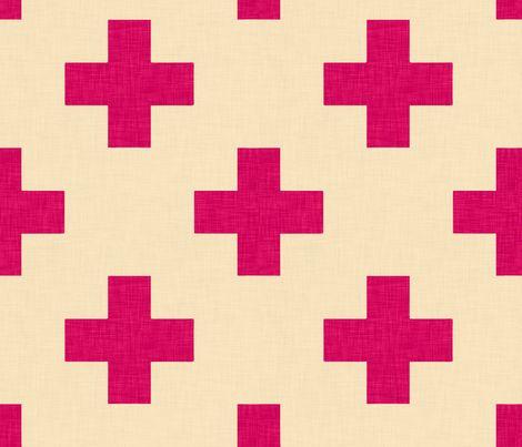 plus_one_magenta fabric by holli_zollinger on Spoonflower - custom fabric
