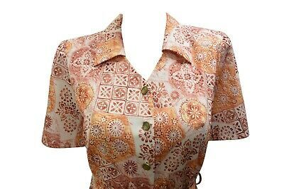 BLUEPORT VINTAGE STYLE SHORT SLEEVE BUTTON UP COLLAR AZTEC BLOUSE DRESS 24 #fashion #clothing #shoes #accessories #womensclothing #dresses (ebay link)