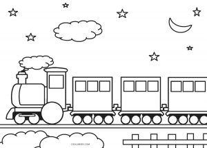 Ice Train Coloring Pages Designs Trend