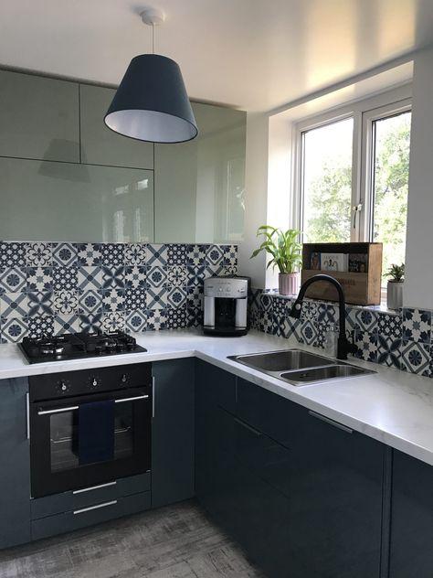Kallarp two tone blue and green kitchen renovation LVM - Kitchen